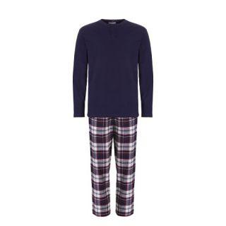 Ten Cate heren pyjama marine/ruit